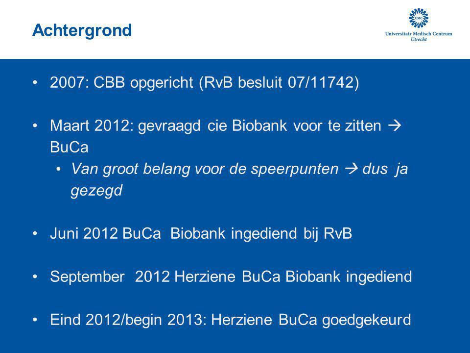 Achtergrond 2007: CBB opgericht (RvB besluit 07/11742)