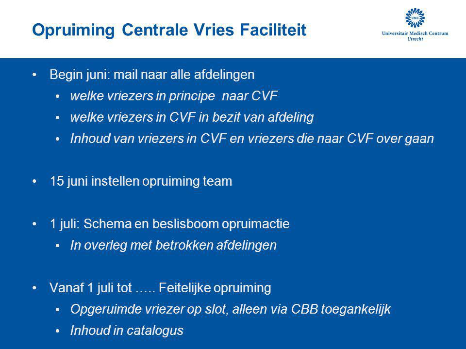 Opruiming Centrale Vries Faciliteit