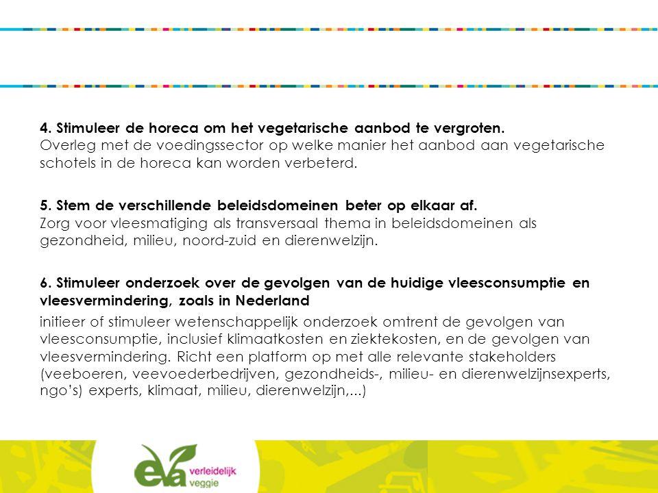 4. Stimuleer de horeca om het vegetarische aanbod te vergroten