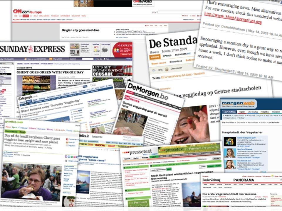 De campagne kwam wereldwijd in het nieuws