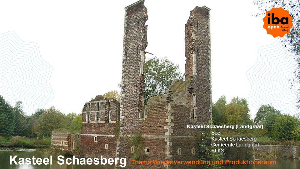 Kasteel Schaesberg Thema Wiederverwendung und Produktionsraum
