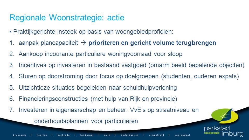 Regionale Woonstrategie: actie
