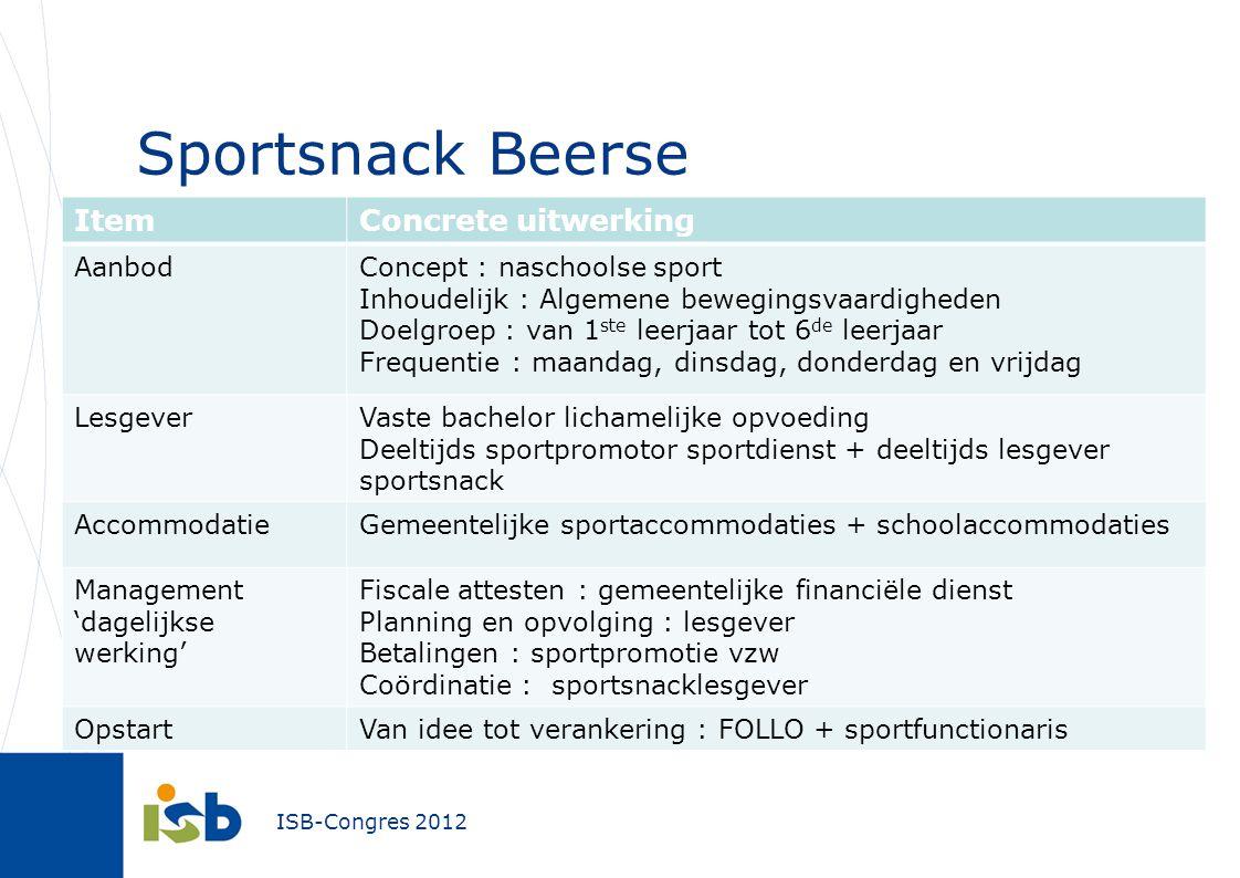 Sportsnack Beerse Item Concrete uitwerking Aanbod
