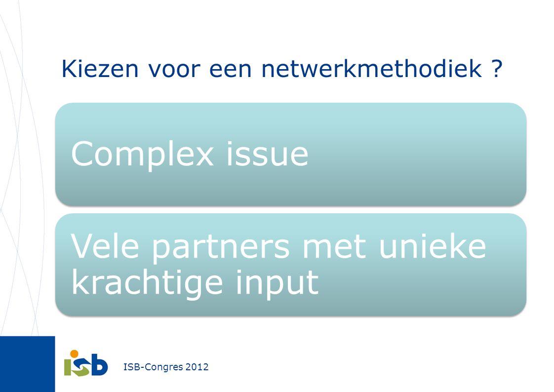 Kiezen voor een netwerkmethodiek