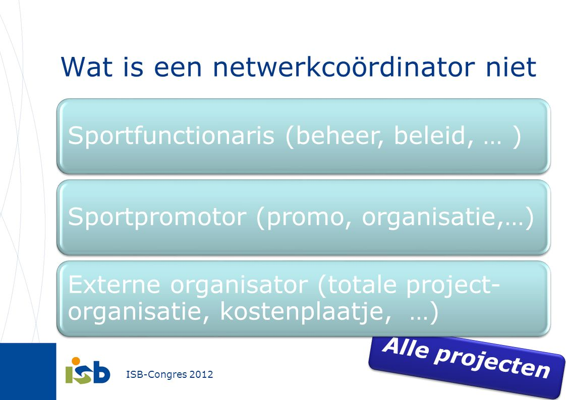 Wat is een netwerkcoördinator niet
