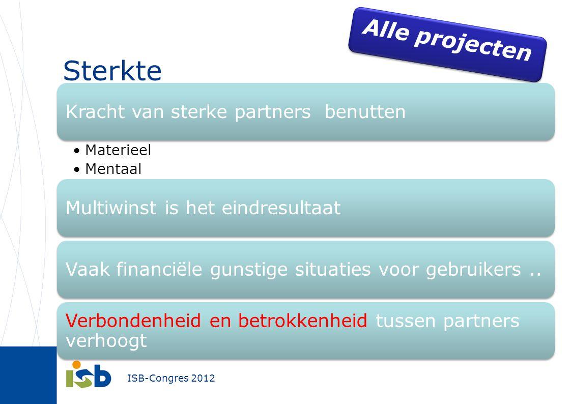Sterkte Alle projecten Kracht van sterke partners benutten Materieel