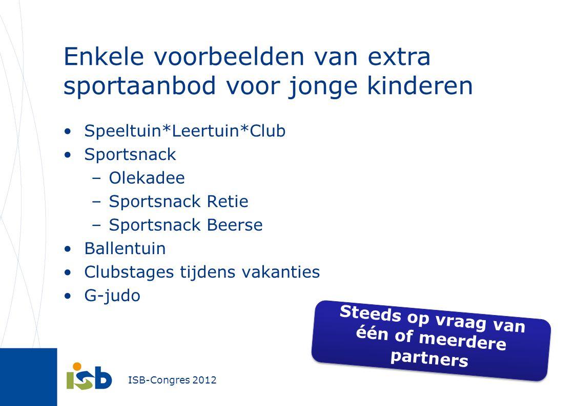 Enkele voorbeelden van extra sportaanbod voor jonge kinderen