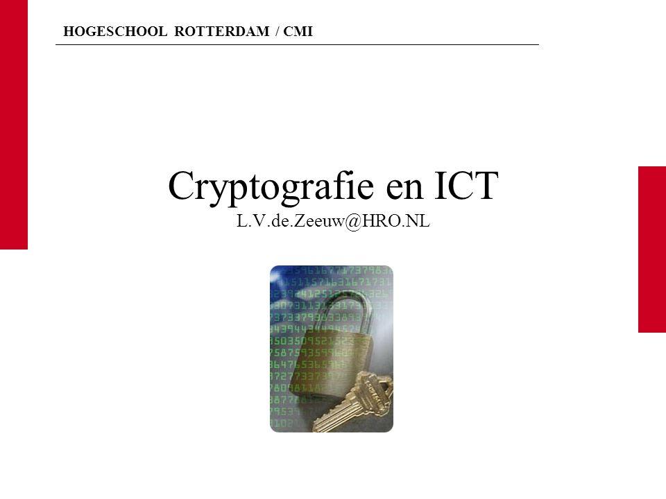 Cryptografie en ICT L.V.de.Zeeuw@HRO.NL