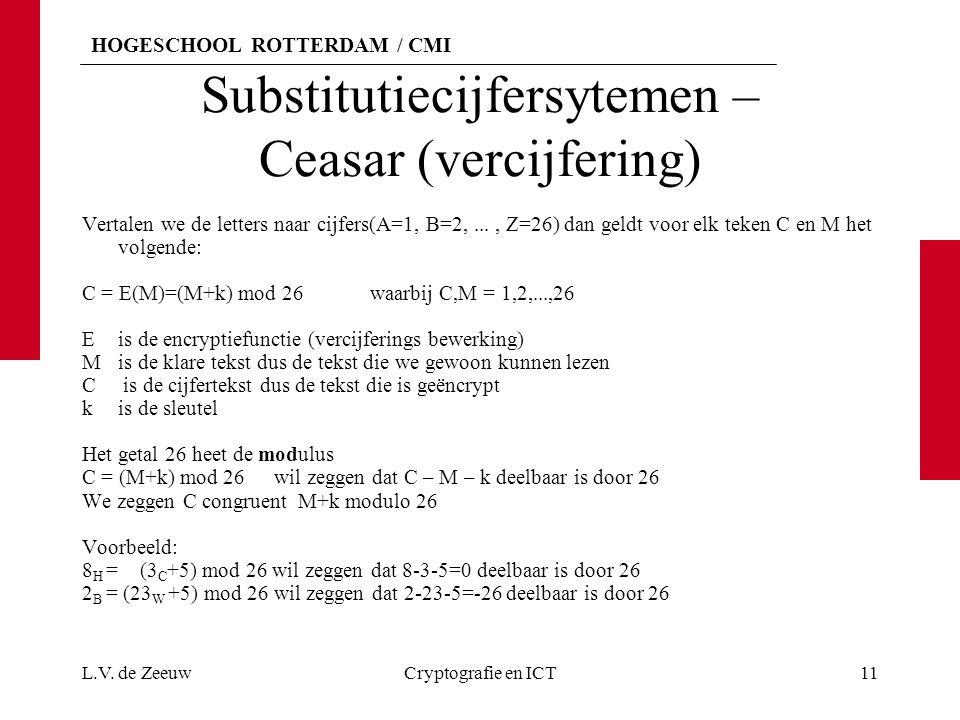 Substitutiecijfersytemen – Ceasar (vercijfering)