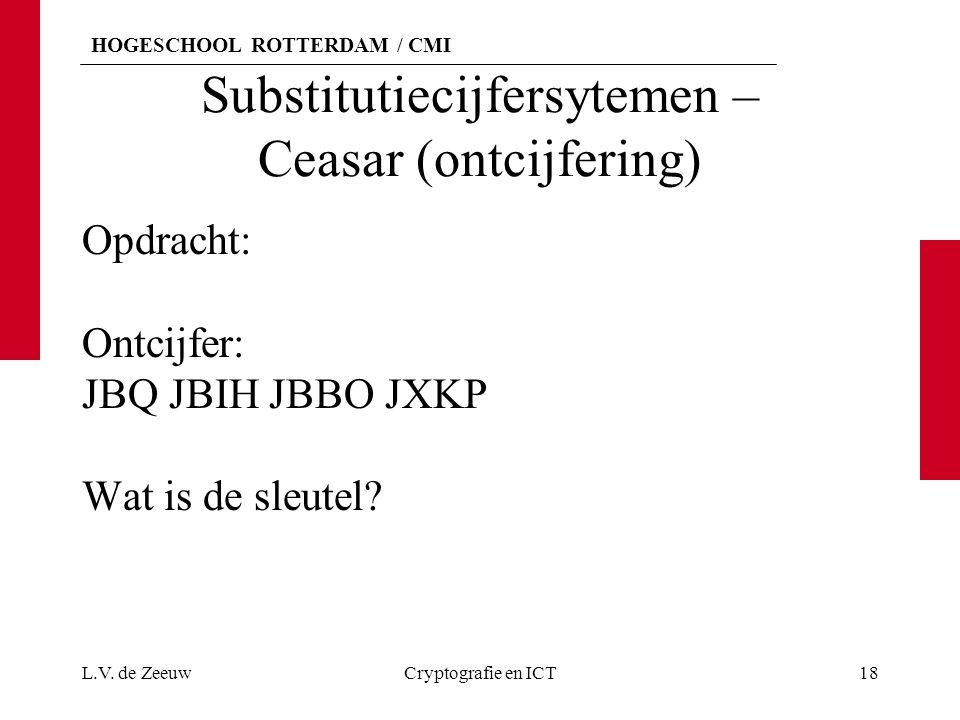 Substitutiecijfersytemen – Ceasar (ontcijfering)