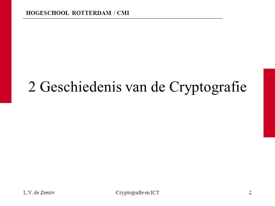 2 Geschiedenis van de Cryptografie