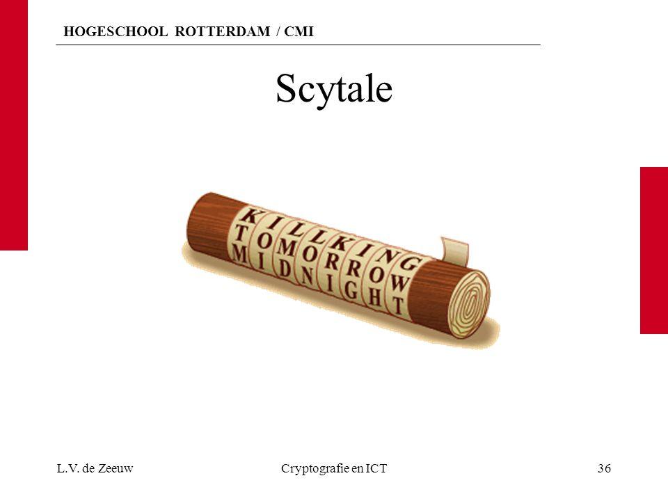 Scytale L.V. de Zeeuw Cryptografie en ICT