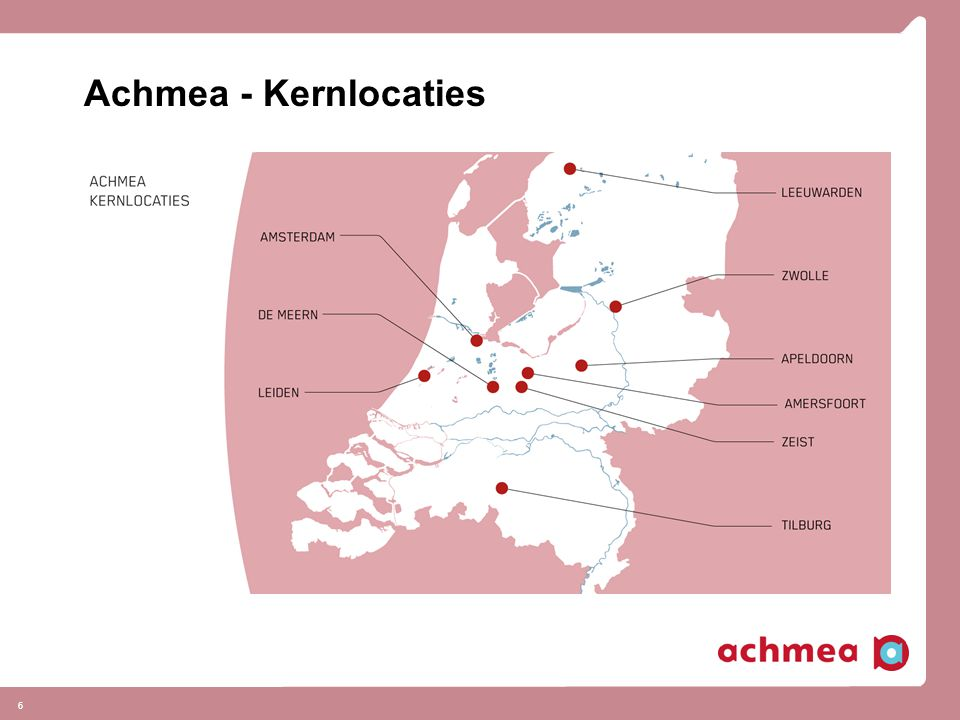 Achmea - Kernlocaties