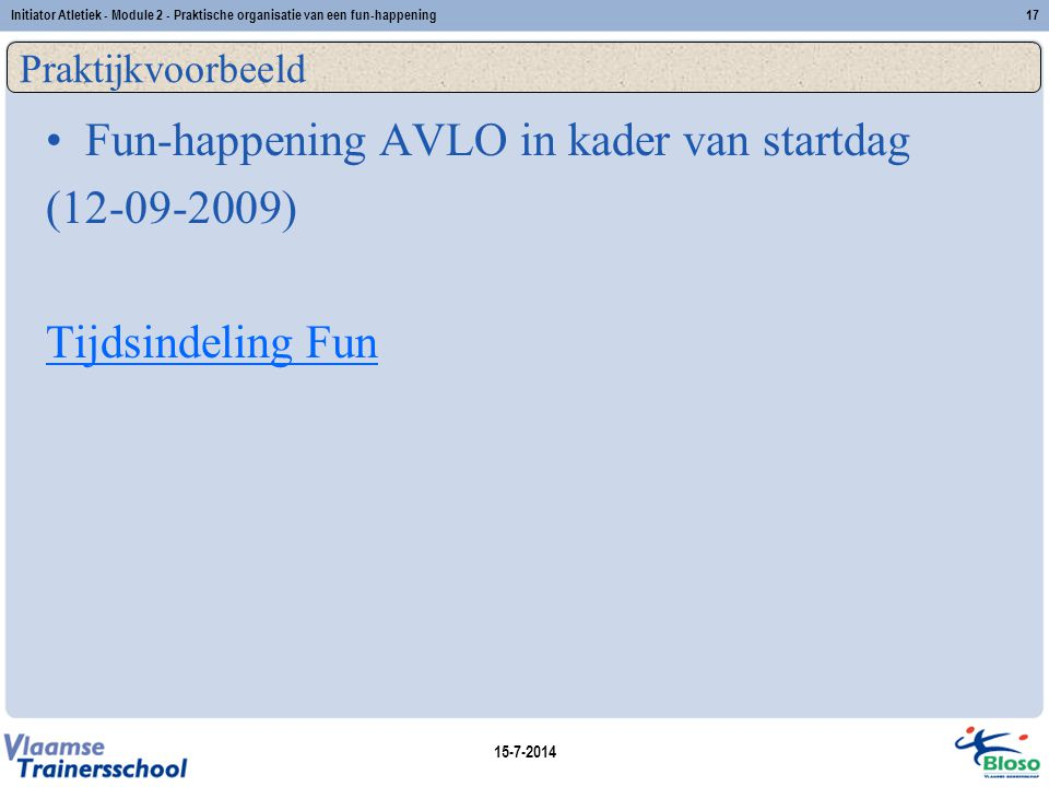 Fun-happening AVLO in kader van startdag ( )
