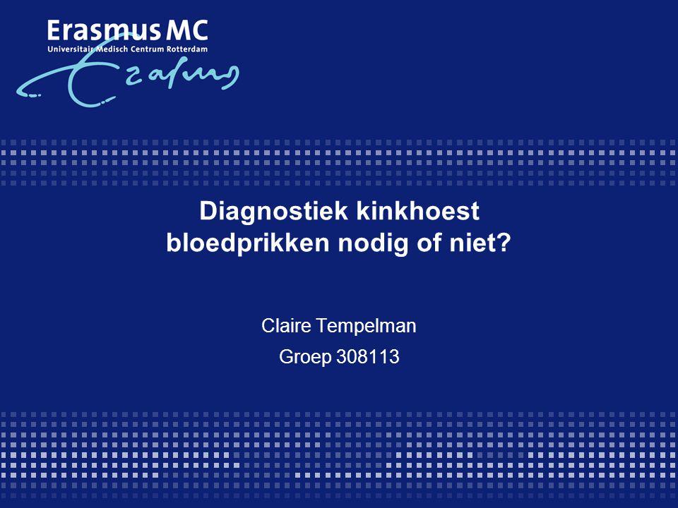 Diagnostiek kinkhoest bloedprikken nodig of niet