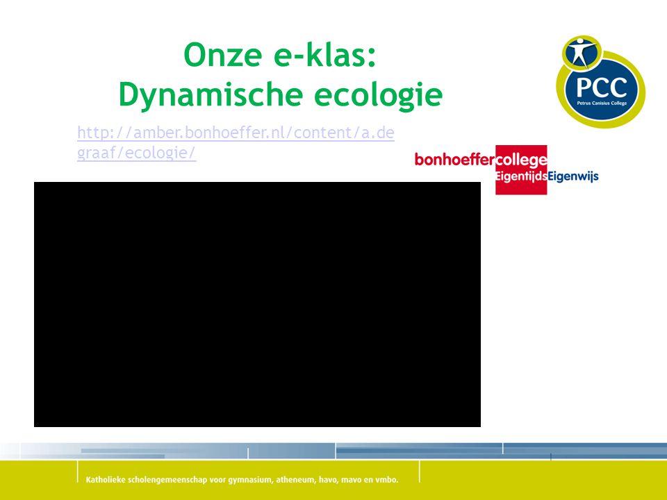 Onze e-klas: Dynamische ecologie