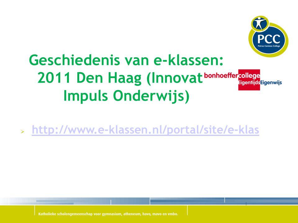 Geschiedenis van e-klassen: 2011 Den Haag (Innovatie Impuls Onderwijs)