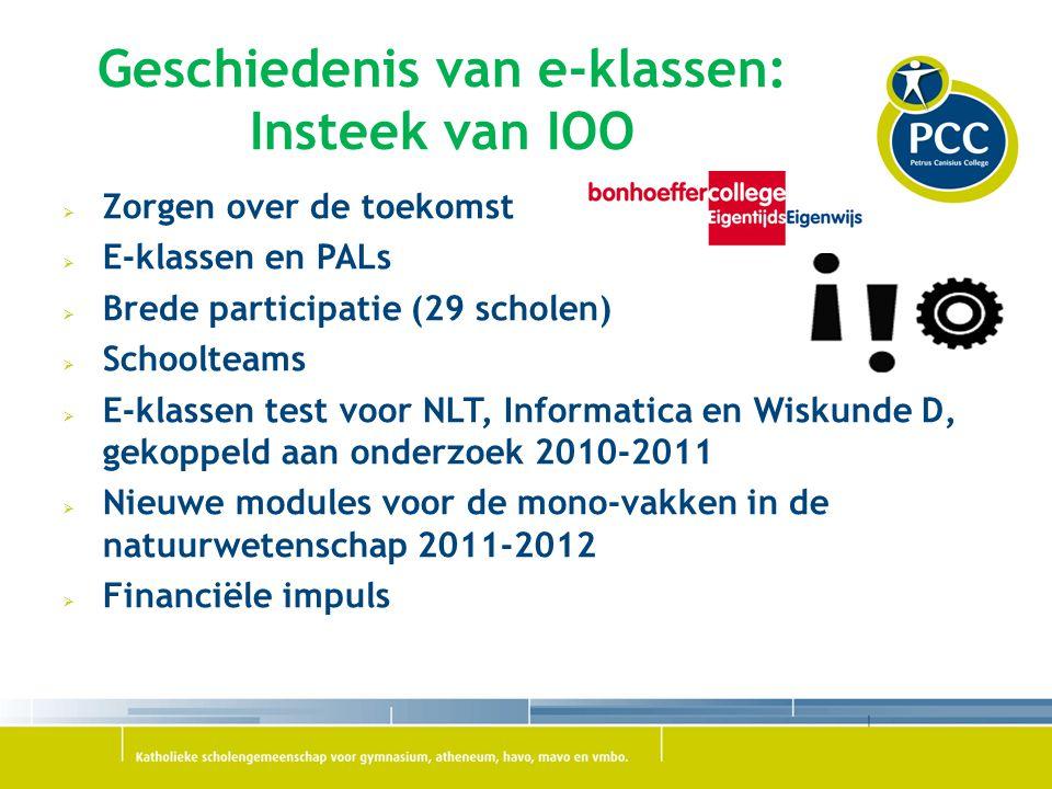 Geschiedenis van e-klassen: Insteek van IOO