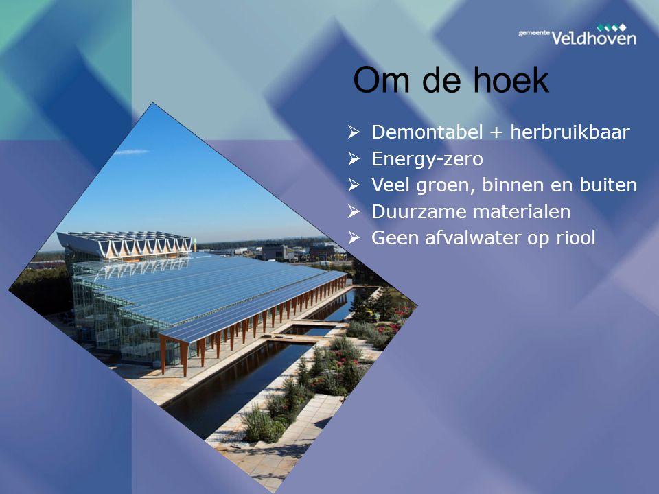 Om de hoek Demontabel + herbruikbaar Energy-zero