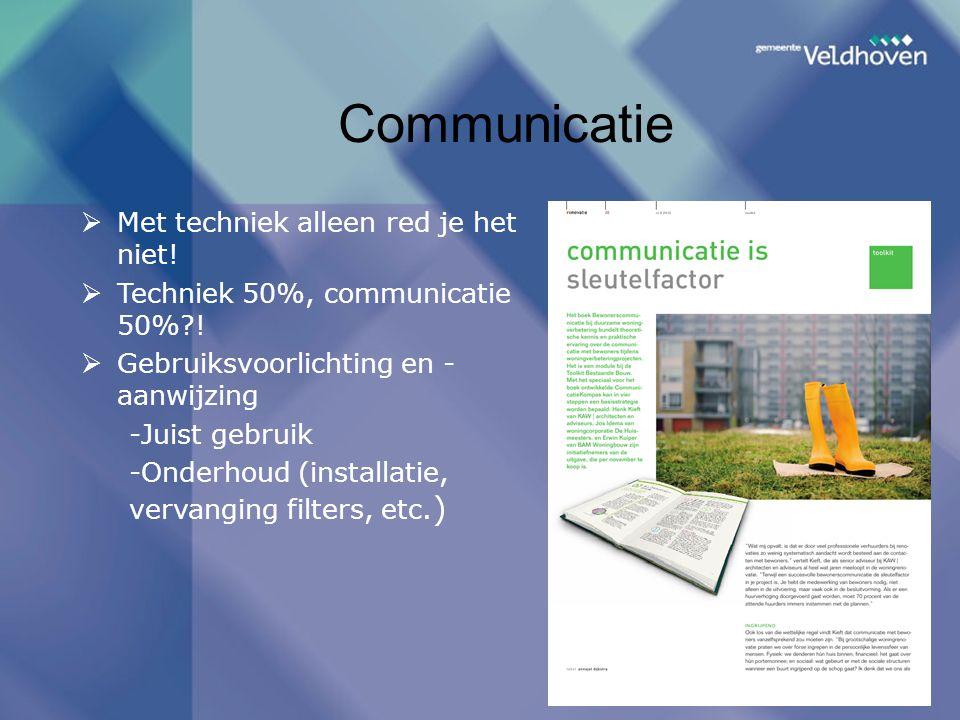 Communicatie Met techniek alleen red je het niet!