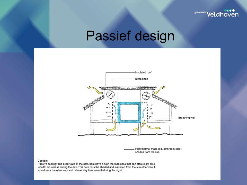 Passief design Kies nieuwe dia, onder Invoegen, die 2 tekstvakken bevat: een voor de titel, een voor overige tekst;