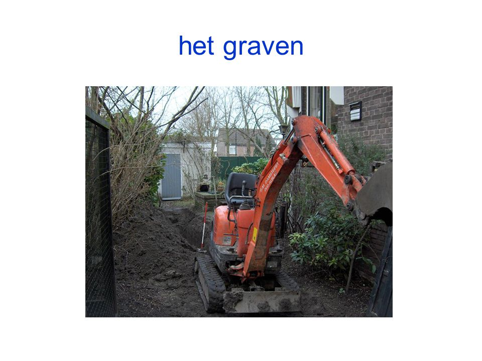 het graven