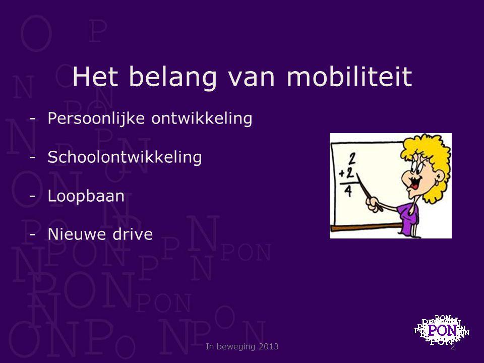 Het belang van mobiliteit