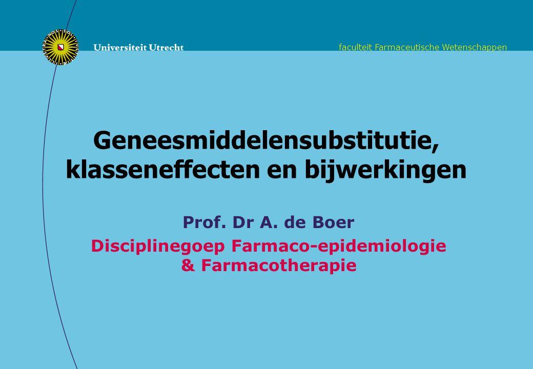 Geneesmiddelensubstitutie, klasseneffecten en bijwerkingen
