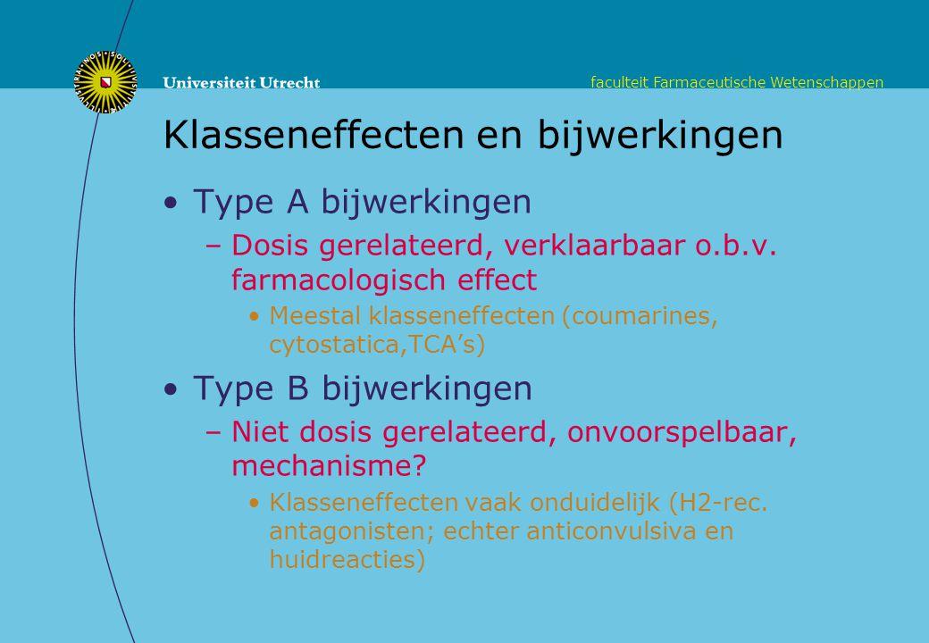 Klasseneffecten en bijwerkingen