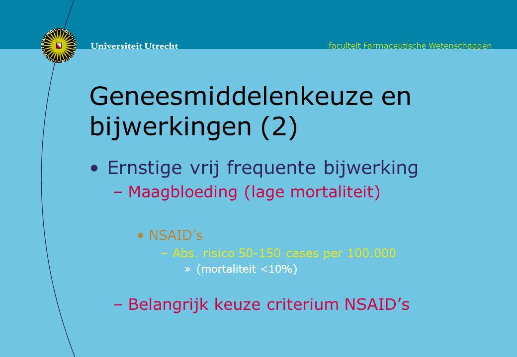 Geneesmiddelenkeuze en bijwerkingen (2)