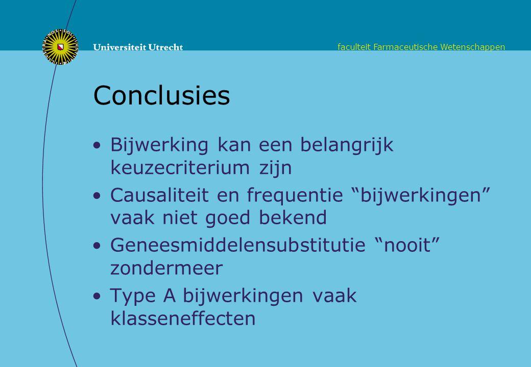 Conclusies Bijwerking kan een belangrijk keuzecriterium zijn