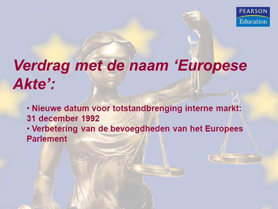 Verdrag met de naam 'Europese Akte':