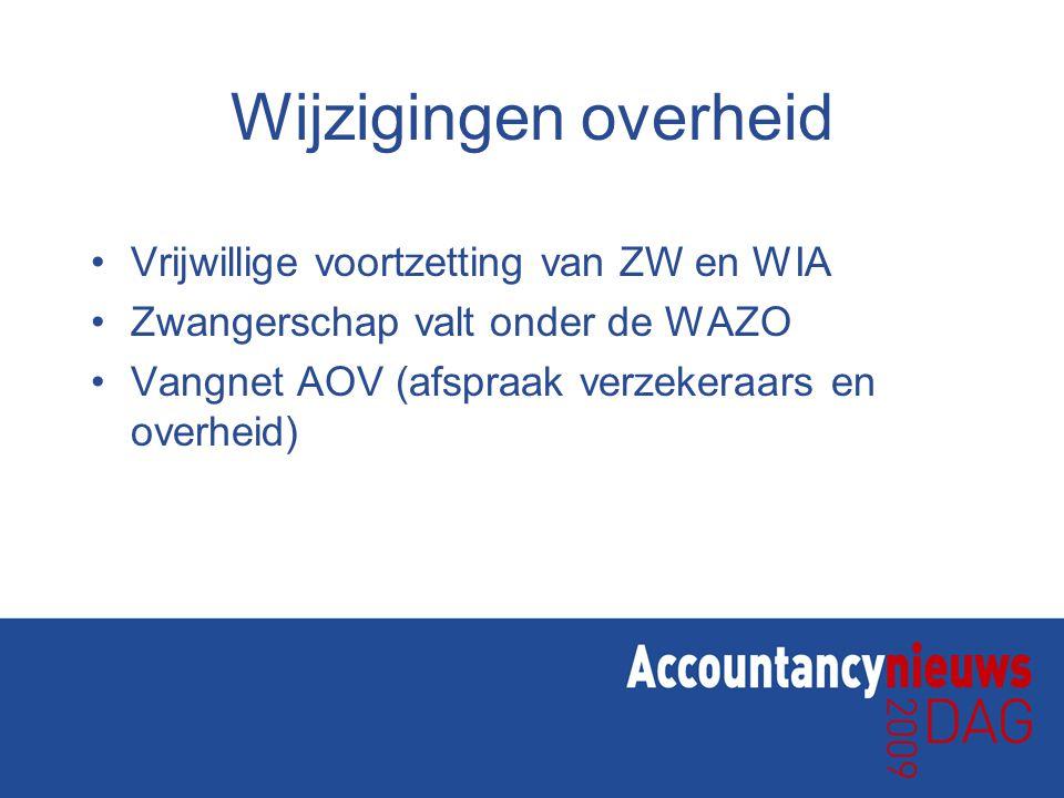 Wijzigingen overheid Vrijwillige voortzetting van ZW en WIA