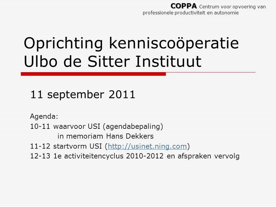 Oprichting kenniscoöperatie Ulbo de Sitter Instituut