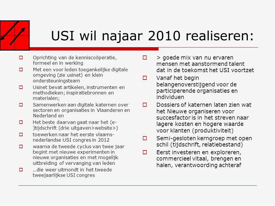 USI wil najaar 2010 realiseren: