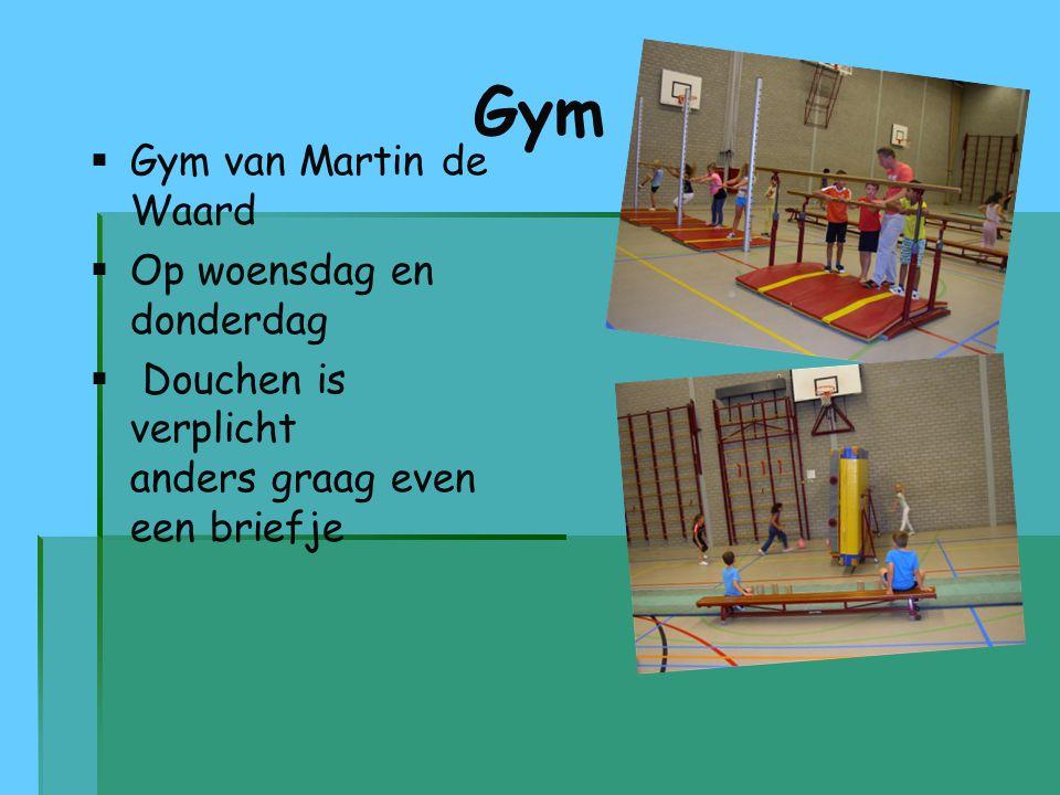 Gym Gym van Martin de Waard Op woensdag en donderdag