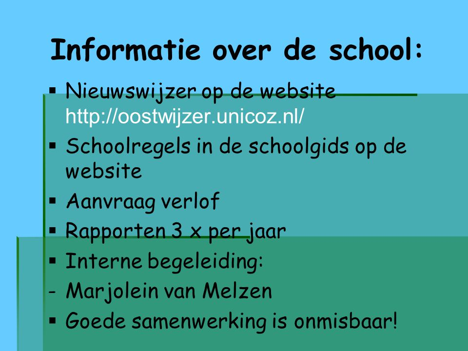 Informatie over de school:
