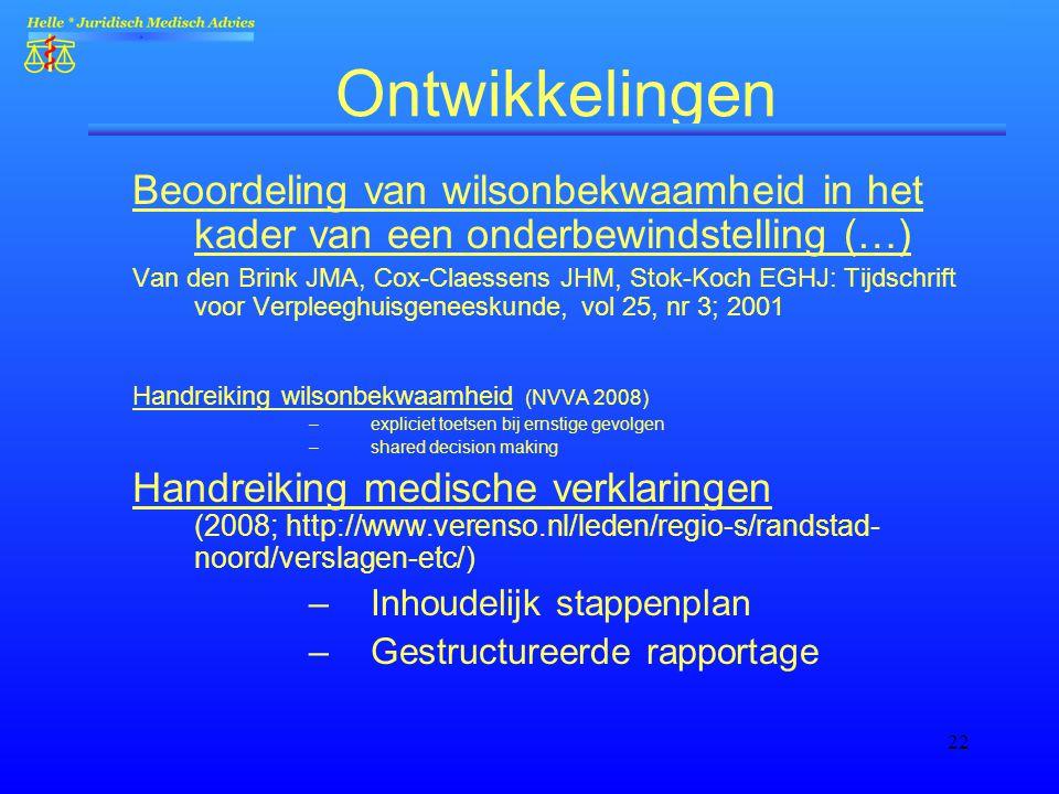 Wilsonbekwaamheid in de palliatieve zorg anno 2013 (Schagen) - workshop juridische aspecten