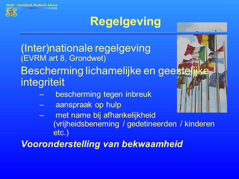 Regelgeving (Inter)nationale regelgeving (EVRM art 8, Grondwet)