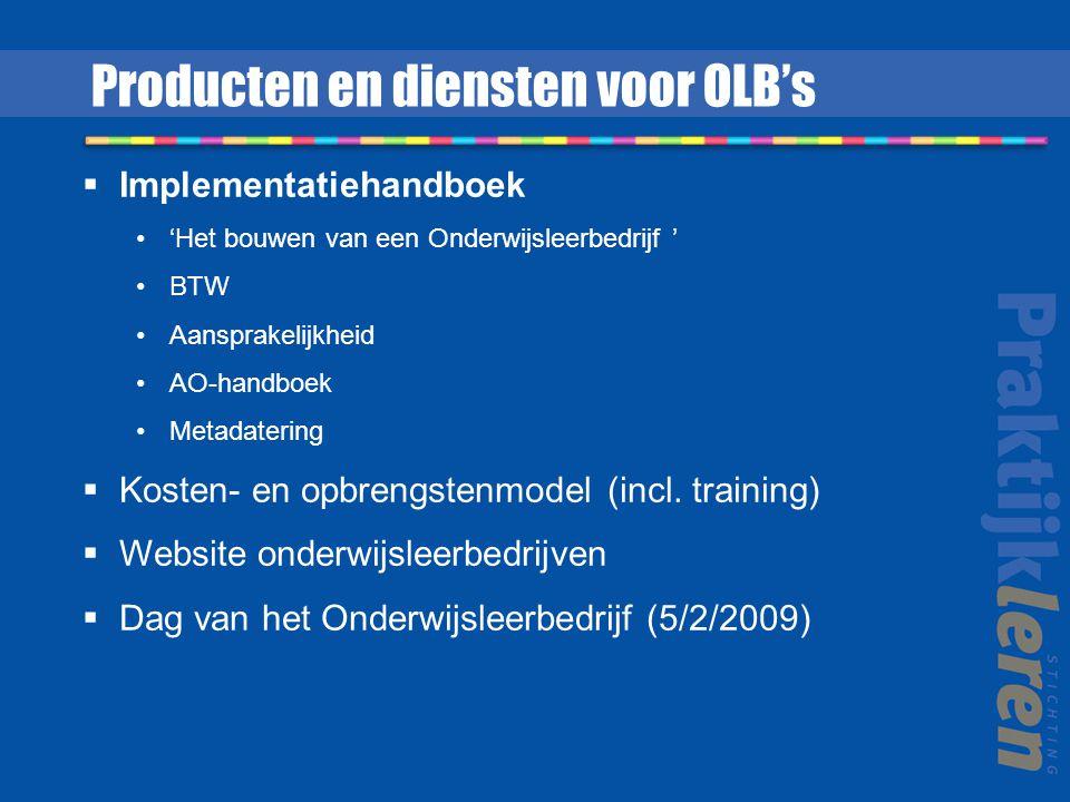 Producten en diensten voor OLB's