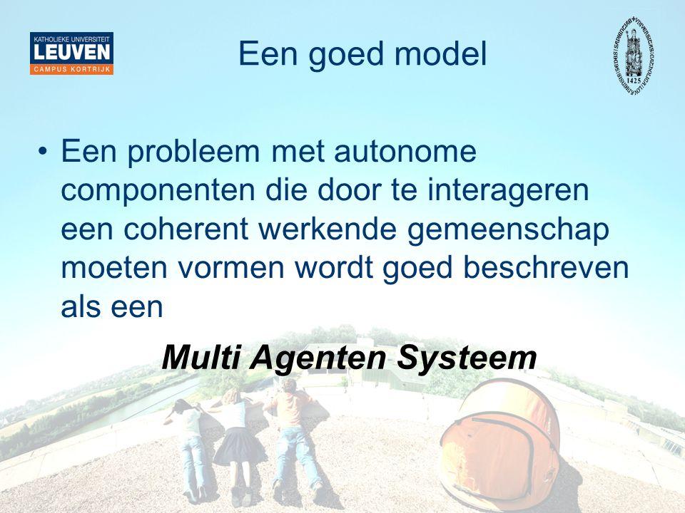 Een goed model Multi Agenten Systeem