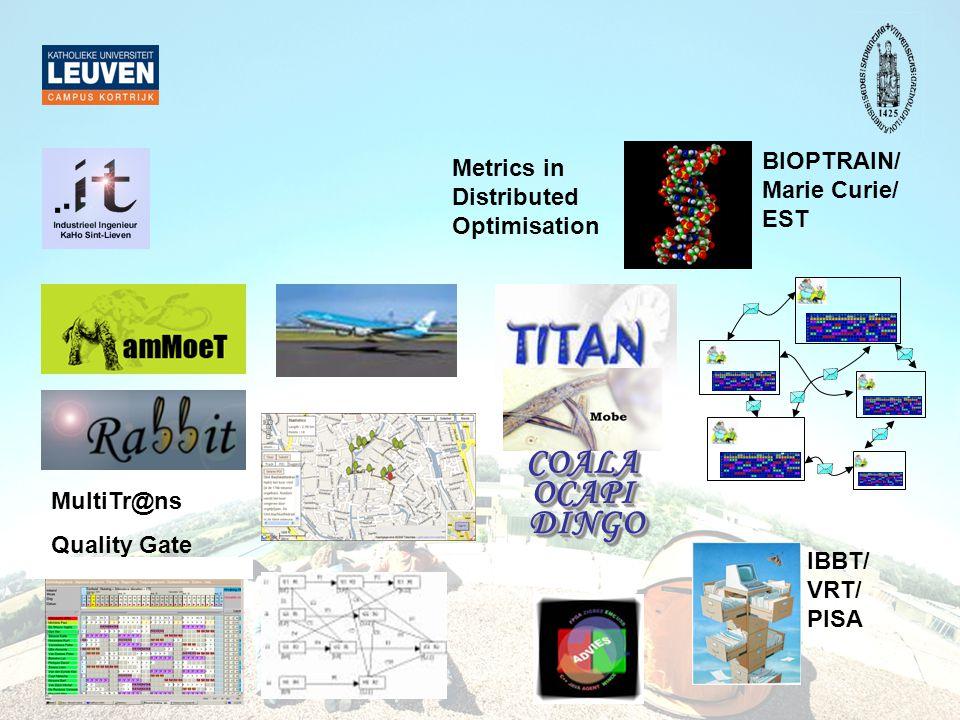 COALA OCAPI DINGO BIOPTRAIN/ Metrics in Marie Curie/ Distributed EST