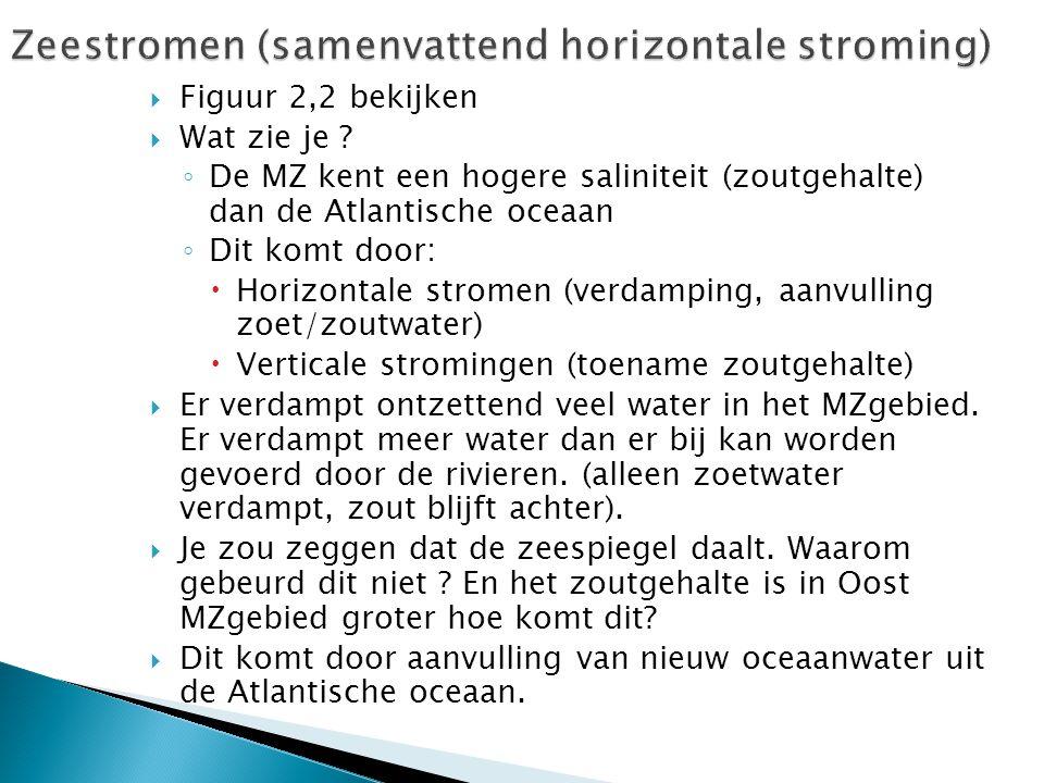 Zeestromen (samenvattend horizontale stroming)