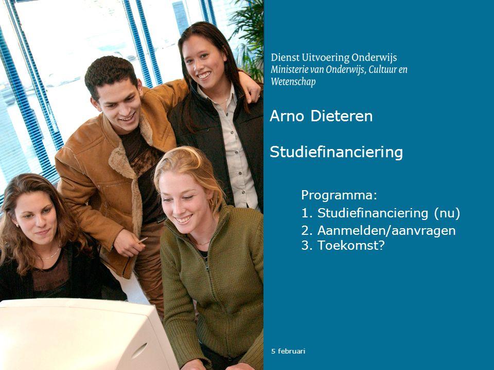 Arno Dieteren Studiefinanciering