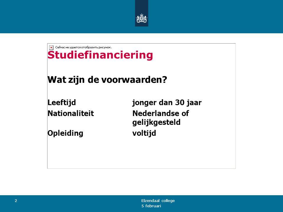 Studiefinanciering Wat zijn de voorwaarden