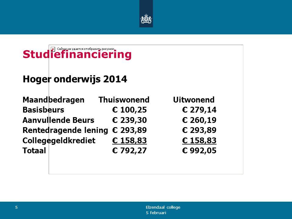 Studiefinanciering Hoger onderwijs 2014
