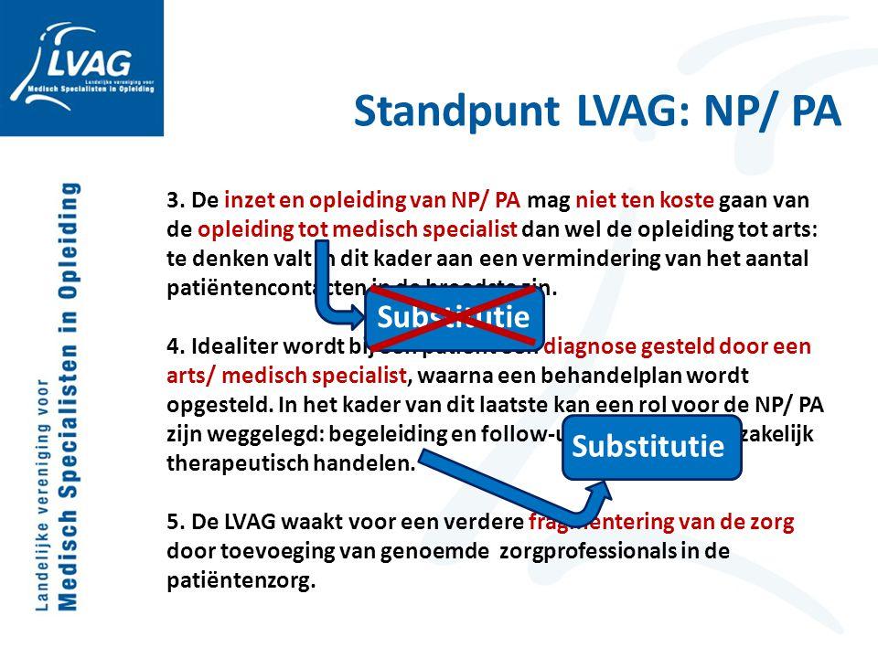 Standpunt LVAG: NP/ PA Substitutie Substitutie