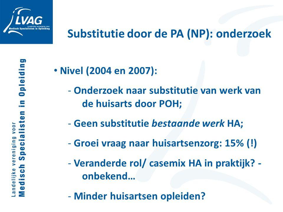 Substitutie door de PA (NP): onderzoek