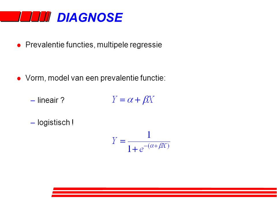 DIAGNOSE Prevalentie functies, multipele regressie