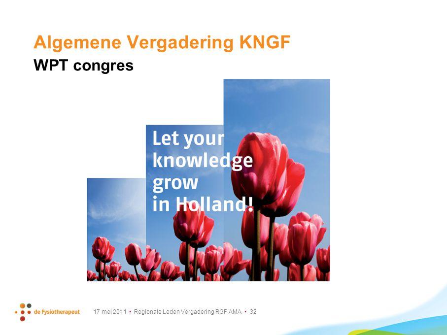 Algemene Vergadering KNGF WPT congres